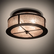 Meyda Tiffany 214356 Smythe Craftsman Mahogany Bronze Overhead Lighting Fixture