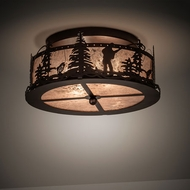 Meyda Tiffany 214358 Fly Fishing Creek Mahogany Bronze Ceiling Lighting