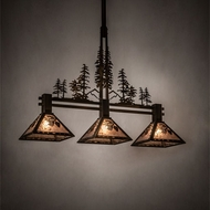 Meyda Tiffany 214364 Tall Pines Antique Copper Kitchen Island Light Fixture