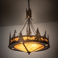 Meyda Tiffany 215159 Tall Pines Antique Copper Pendant Lighting