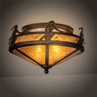 Meyda Tiffany 215163 Alpine Antique Copper Ceiling Light