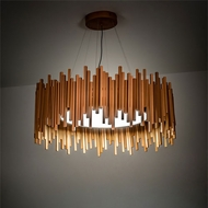 Meyda Tiffany 215305 Frequency Contemporary Copper LED Ceiling Pendant Light