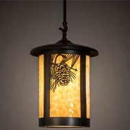 Meyda Tiffany 215710 Fulton Craftsman Brown Pendant Lamp