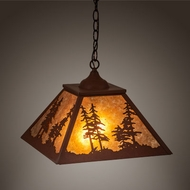 Meyda Tiffany 215761 Tall Pines Red Rust Hanging Light