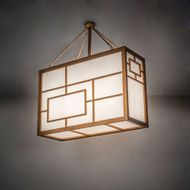 Meyda Tiffany 215789 Kofu Craftsman Brass Tint LED Pendant Light