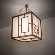 Meyda Tiffany 215790 Kofu Craftsman Brass Tint LED Lighting Pendant