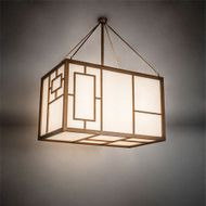 Meyda Tiffany 215791 Kofu Mission Brass Tint / Brushed Aluminum LED Pendant Lamp