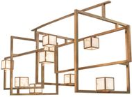 Meyda Tiffany 215799 Marblesque Craftsman Brass Tint / Brushed Aluminum LED Multi Hanging Lamp