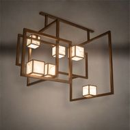 Meyda Tiffany 215800 Marblesque Mission Brass Tint Multi Hanging Light