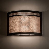 Meyda Tiffany 216310 Maglia Semplice Oil Rubbed Bronze Wall Sconce Light