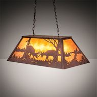 Meyda Tiffany 216481 Battling Bucks Rustic Rust Island Light Fixture