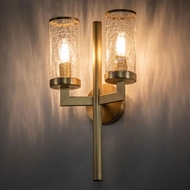 Meyda Tiffany 216718 Cilindro Ashcroft Contemporary Natural Brass Lighting Wall Sconce
