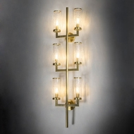 Meyda Tiffany 216719 Cilindro Ashcroft Modern Natural Brass Wall Lighting Sconce