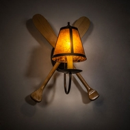 Meyda Tiffany 216854 Paddle Antique Copper / Natural Wood Sconce Lighting