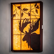 Meyda Tiffany 216919 Moose Red Rust LED Window