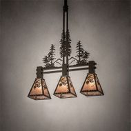 Meyda Tiffany 217007 Winter Pine Country Timeless Bronze Kitchen Island Light Fixture