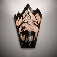 Meyda Tiffany 217008 Moose at Dawn Country Timeless Bronze Wall Light Sconce