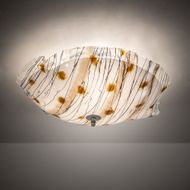 Meyda Tiffany 217233 Organic Slumped Modern Nickel Overhead Light Fixture