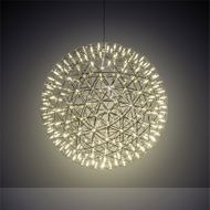Meyda Tiffany 217276 Geosphere Modern Stainless Steel LED Drop Lighting