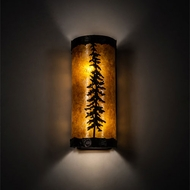 Meyda Tiffany 217915 Tall Pine Mahogany Bronze LED Lamp Sconce