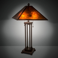 Meyda Tiffany 218344 Mission Mahogany Bronze Lighting Table Lamp
