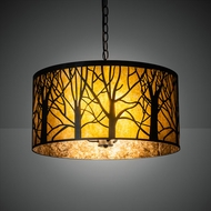 Meyda Tiffany 218539 Winter Maple Drum Drop Lighting Fixture
