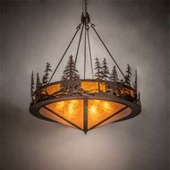 Meyda Tiffany 219064 Moose at Dusk Country Rust Chandelier Lighting