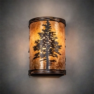 Meyda Tiffany 219235 Tamarack Rustic Mahogany Bronze Light Sconce