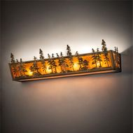 Meyda Tiffany 219385 Tall Pines Country Antique Copper Lighting For Bathroom