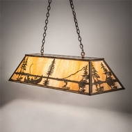 Meyda Tiffany 219638 Trout & Fisherman Country Antique Copper Island Lighting