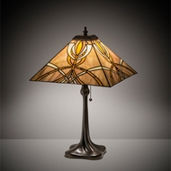 Meyda Tiffany 219891 Glasgow Bungalow Mahogany Bronze Table Lamp