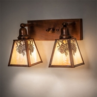 Meyda Tiffany 219956 Winter Pine Rustic Vintage Copper Exterior Wall Light Fixture