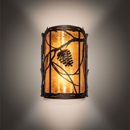Meyda Tiffany 220298 Whispering Pines Rustic Timeless Bronze Lighting Wall Sconce