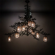 Meyda Tiffany 220711 Pine Branch Country Timeless Bronze / Cafe-Noir LED Ceiling Chandelier