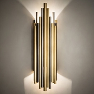 Meyda Tiffany 220813 Audsley Contemporary Polished Brass and Stainless Steel LED Wall Lamp