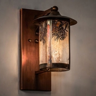 Meyda Tiffany 221038 Fulton Vintage Copper Exterior Wall Mounted Lamp