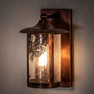 Meyda Tiffany 221039 Fulton Vintage Copper Outdoor Wall Light Sconce