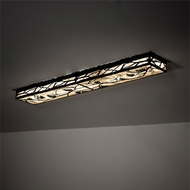 Meyda Tiffany 221767 Whispering Pines Mission Flat Black LED Home Ceiling Lighting
