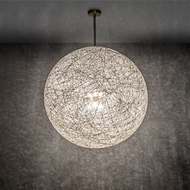 Meyda Tiffany 222508 Yarn Ball Modern Natural Brass Drop Ceiling Lighting