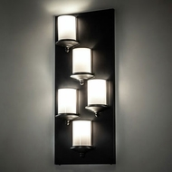 Meyda Tiffany 222730 Octavia Contemporary Black Wall Lighting Fixture
