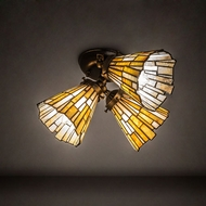 Meyda Tiffany 223048 Delta Gold Vein Overhead Light Fixture