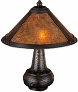 Meyda Tiffany 22619 Arts And Crafts 2 Light Short Mica Table Lighting Fixture