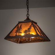 Meyda Tiffany 226614 Tall Pines Mission Cafe-Noir Pendant Lighting