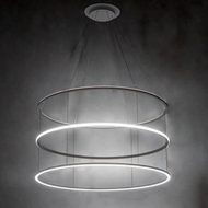 Meyda Tiffany 226851 Anillo Halo Contemporary Silver LED Pendant Light Fixture
