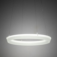 Meyda Tiffany 226852 Cincin Contemporary White LED Pendant Lighting Fixture