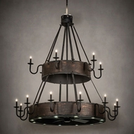 Meyda Tiffany 227743 Costello Copper LED Chandelier Lamp