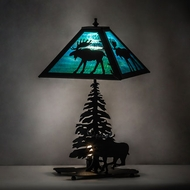 Meyda Tiffany 228133 Lone Moose Craftsman Table Lamp Lighting