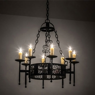 Meyda Tiffany 228282 Toscano Traditional Black Chandelier Light