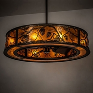 Meyda Tiffany 228668 Whispering Pines Antique Copper Drum Ceiling Pendant Light