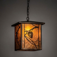 Meyda Tiffany 228669 Whispering Pines Antique Copper Drop Ceiling Light Fixture